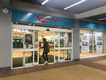 Argos extra store. Argos Ltd, trading as Argos, is a British catalogue retailer operating in the United Kingdom and Ireland, and a subsidiary of Sainsbury`s. The royalty free stock photo