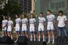 Argos-Shimano yrkesmässigt cykla lag Arkivfoto