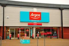 Argos-Speicherfrontseite lizenzfreie stockfotografie
