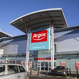 Argos. Swansea, UK: December 28, 2016: Main entrance to an Argos Megastore taken from the car park with disabled parking available near the store Royalty Free Stock Photography