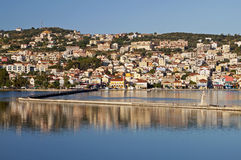 argostoli城市希腊 库存照片