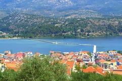 Argostoli bay landscape Stock Image