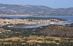 Argostoli city at Kefalonia in Greece Stock Images