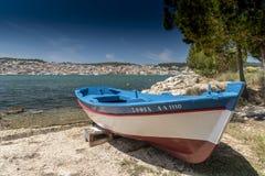 Argostoli en boot Kefalonia Royalty-vrije Stock Afbeeldingen
