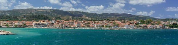 Argostoli-Hauptstadt von Kefalonia Griechenland lizenzfreies stockfoto