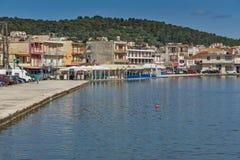 Argostoli, Kefalonia Grecja, Maj, - 26 2015: Panorama miasteczko Argostoli, Kefalonia, Obrazy Stock