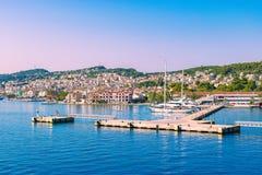 Argostoli, Kefalonia, Greece. Cruise port in Argostoli, Kefalonia, Greece Royalty Free Stock Photography