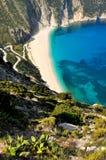 Argostoli strand royaltyfri bild
