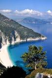 Argostoli strand arkivfoto