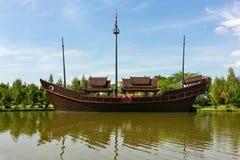 Argosy tailandese alla città antica Immagini Stock Libere da Diritti