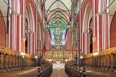 Argt altare av den Doberan domkyrkan i dåliga Doberan, Tyskland royaltyfria foton