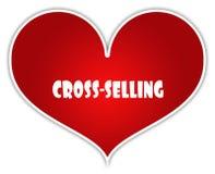 ARGT SÄLJA på röd hjärtaklistermärkeetikett royaltyfri illustrationer