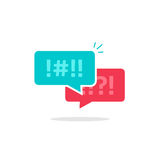 Argue chat bubbles icon vector, argument messages, arguing couple chatting Stock Photos