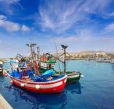 Arguineguin Puerto i Mogan Gran Canaria Arkivfoton