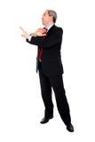 arguing businessman hands his Στοκ φωτογραφία με δικαίωμα ελεύθερης χρήσης