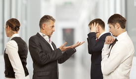 Arguing, conflict, business concept Royalty Free Stock Images