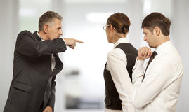 Arguing, conflict, business concept Royalty Free Stock Photos
