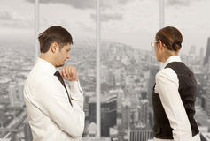 Arguing, conflict, business concept Stock Photo