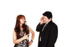 Arguing couple. Stock Image