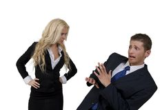 Arguing couple royalty free stock photo