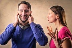 arguing couple Στοκ Εικόνες