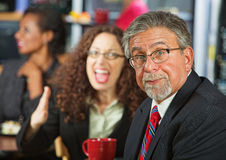 Arguing Coworkers Stock Photography
