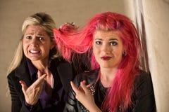 Arguing About Hairdos Stock Photo