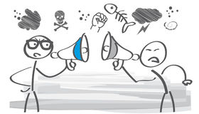 Arguing -  illustration. Angry people shouting and fighting at each other Stock Photo