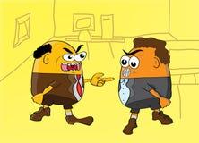 Arguing men. Vector illustration of a arguing men royalty free illustration