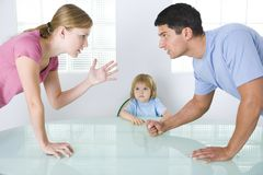 Arguing parents Royalty Free Stock Photography