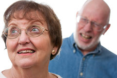 Arguing Senior Couple Stock Image