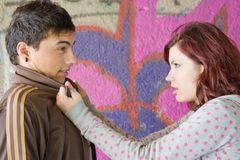 Arguing teenagers couple Stock Photography