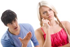 During argument Stock Photo