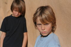 Argument. Sad children argument friends, problems royalty free stock photo