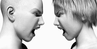 Argument. Closeup of a couple yelling at each other Stock Photos