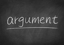 Argument. Concept word on a blackboard background Royalty Free Stock Images
