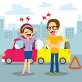 Argument d'accident de voiture illustration de vecteur