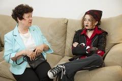 Argument d'enfant de parent photos stock