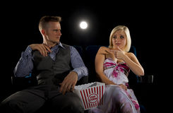 Argument on date night Royalty Free Stock Image