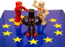 Argument de Brexit photo libre de droits