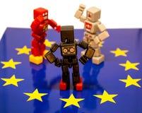 Argument de Brexit image stock
