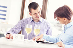 Argument in a restaurant Royalty Free Stock Images