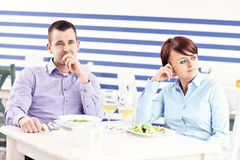Argument in a restaurant Stock Photos
