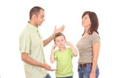 Argumentação da família Fotografia de Stock Royalty Free