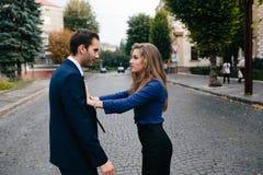 Argumentação do homem e da mulher Imagens de Stock Royalty Free