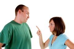 Argumentação dos pares Fotografia de Stock Royalty Free