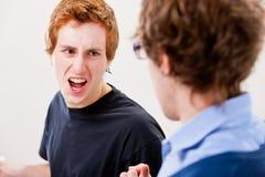 Argumentação de mal-entendido e molestamento de Fotografia de Stock Royalty Free