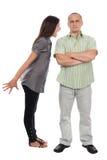 Argumentation de couples Photo libre de droits