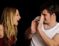 Argumentation de couples Photos stock