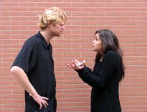 Argumentation de couples Photographie stock libre de droits